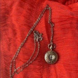 """15.5""""L Locket Style Watch Pendent Necklace"""